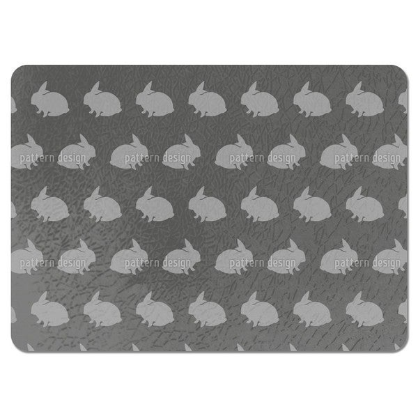 Grey Rabbits Placemats (Set of 4)