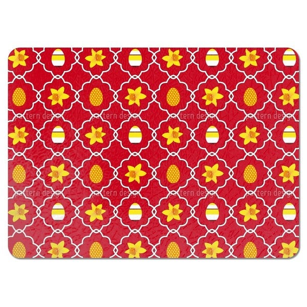 Easter Daffodils Red Placemats (Set of 4)