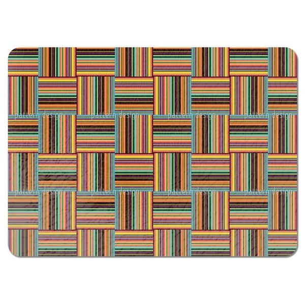 Chess Board Parquet Placemats (Set of 4)