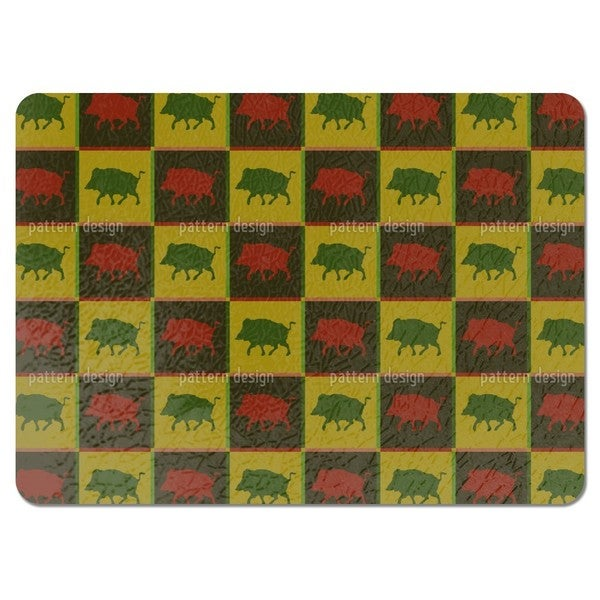 Wild Boar Territory Placemats (Set of 4)