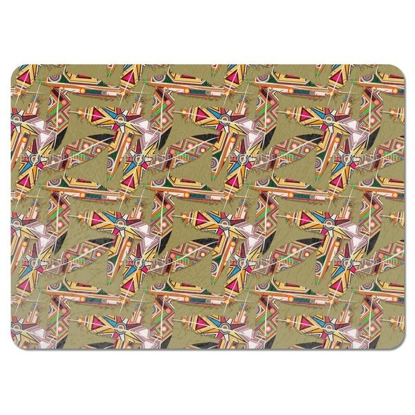 Surfboard Feathers Placemats (Set of 4)