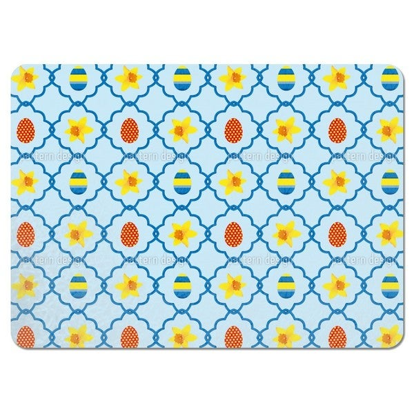 Easter Daffodils Blue Placemats (Set of 4)