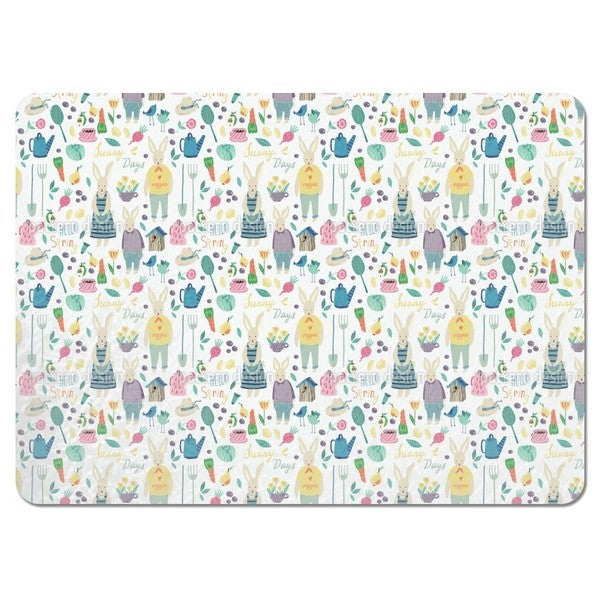 Rabbits Garden Placemats (Set of 4)