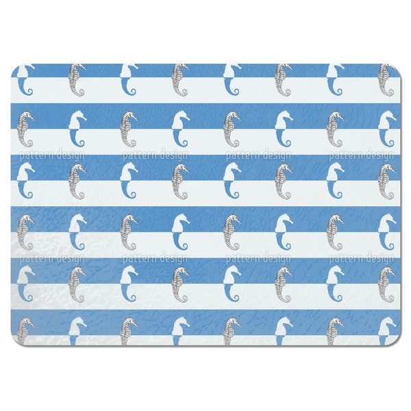 Seahorses on Blue Stripes Placemats (Set of 4)