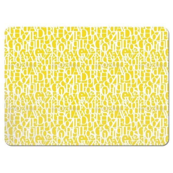 Letter Code Placemats (Set of 4)