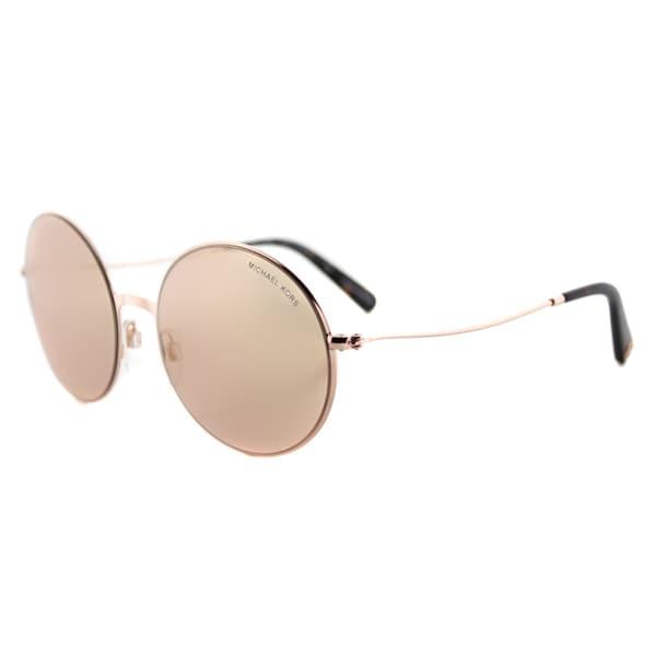 Michael Kors MK 5017 1026R1 Kendal II Rose Gold Metal Round Rose Gold Flash Mirror Lens Sunglasses