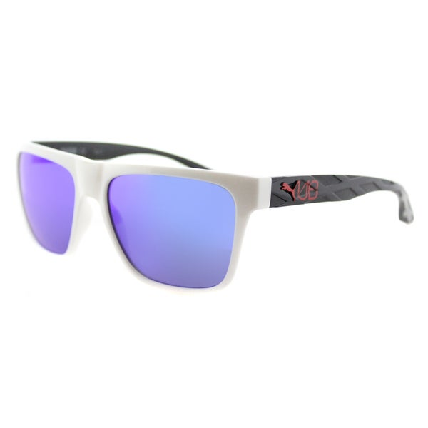 Puma PU 0008S 006 Usain Bolt Black Plastic Rectangle Gold Mirror Lens Sunglasses