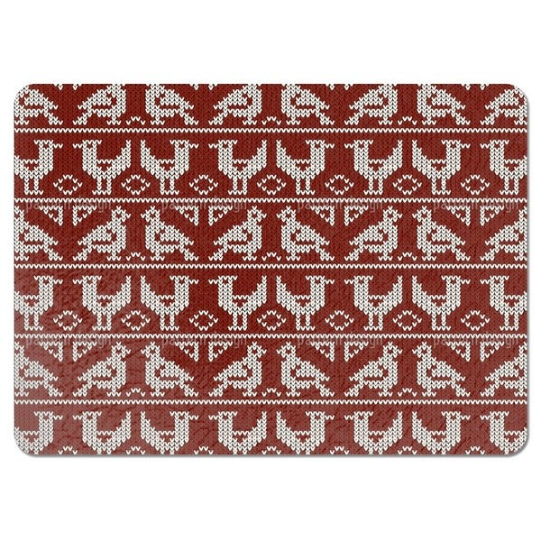Knitted Birds Placemats (Set of 4)