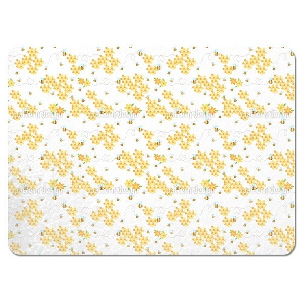 Bees Love Honeycombs Placemats (Set of 4)