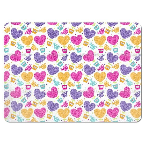 Hearts Need Water and Love Placemats (Set of 4)