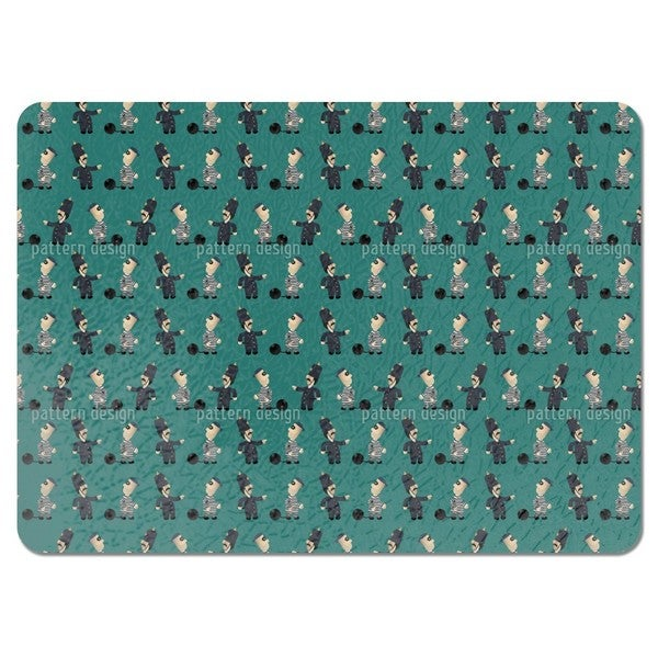 The Policeman and His Convict Placemats (Set of 4)