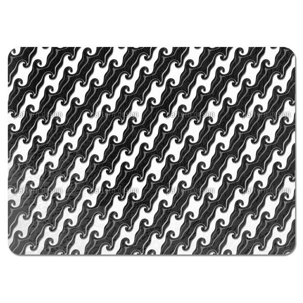 Chocolate Icing in Diagonal Waves Placemats (Set of 4)