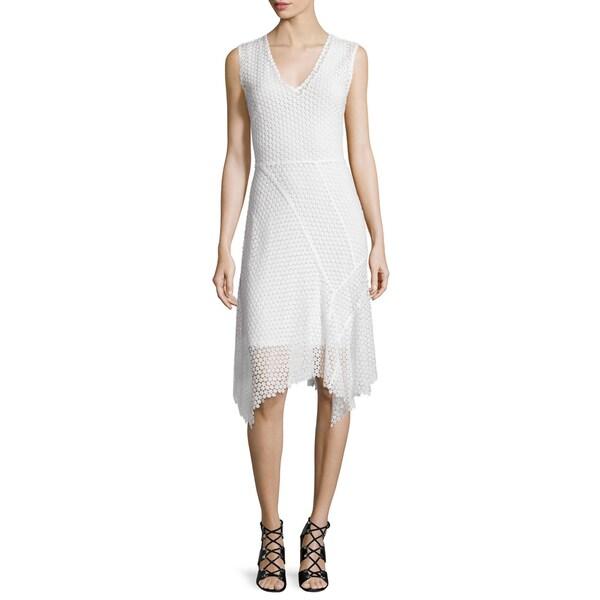 Elie Tahari Woman's Eloise White Lace Dress