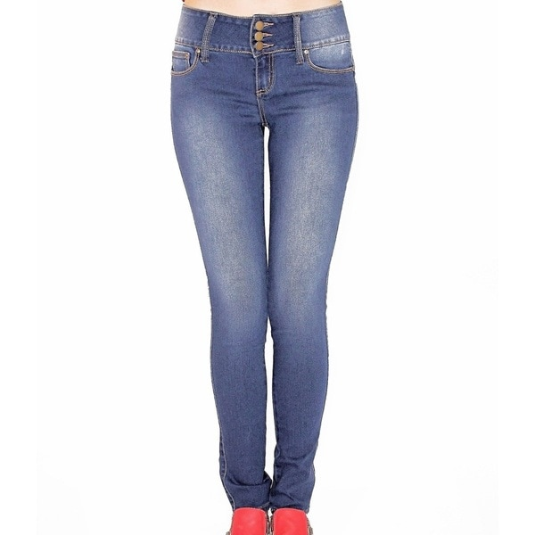 Juniors' Plus Stretch Skinny Buttlifter Jeans