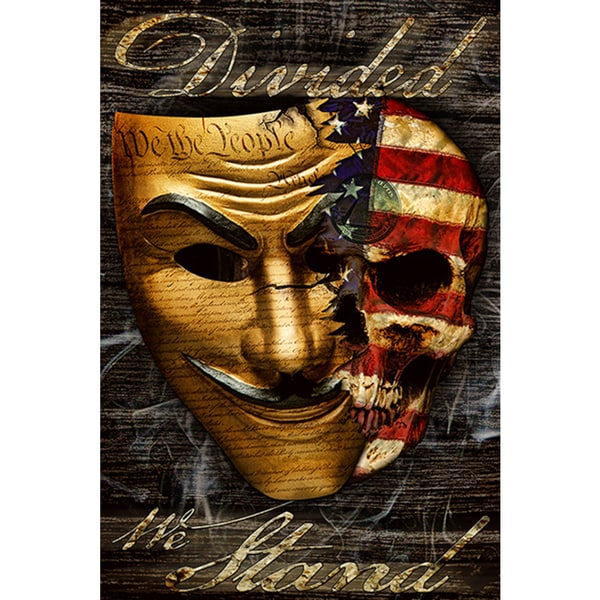 Daveed Benito 'Divided We Stand Mask' Fine Art Giclee Print