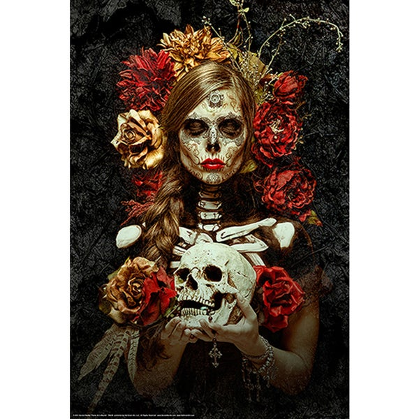 Daveed Benito 'Flores de la Muerte' Fine Art Giclee
