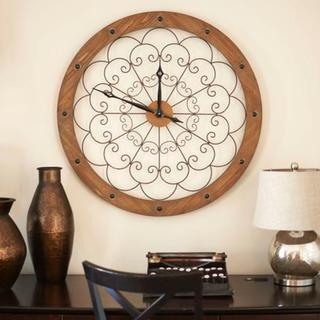 Large Scroll Wall Clock