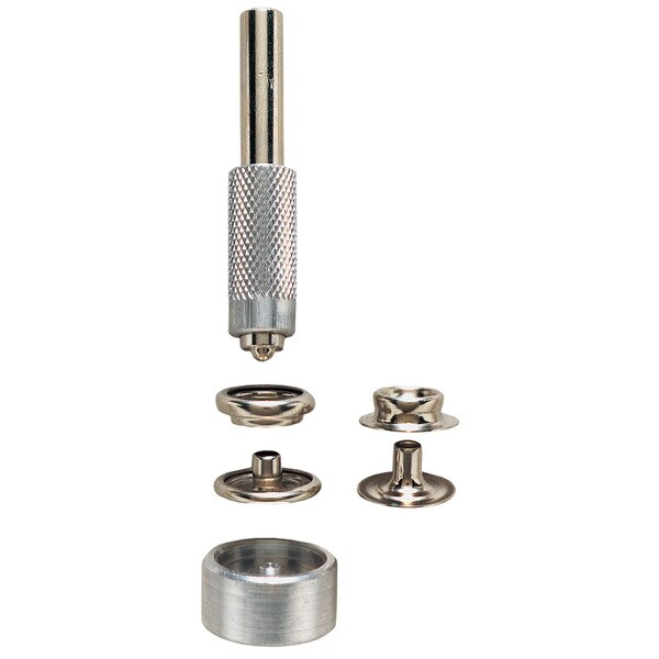 General 1265 Solid Brass Nickel Plated Grommet Fastener Kit 6-ct