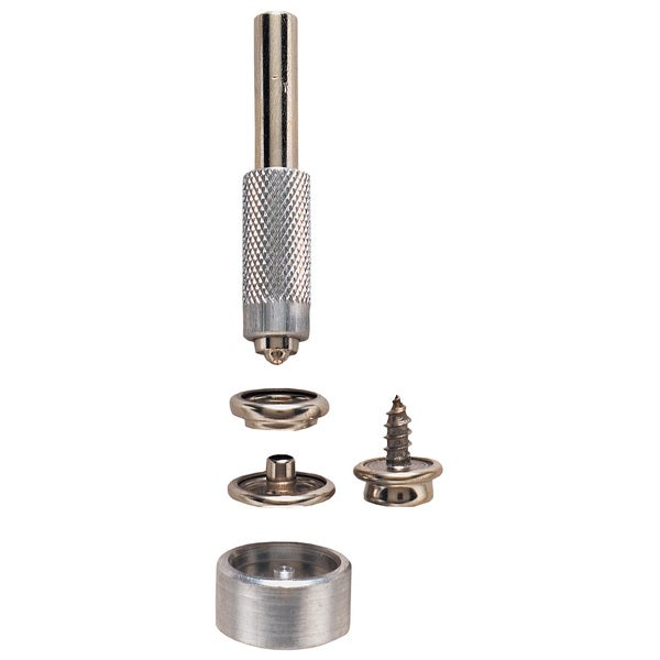 General 1267 Nickel Plated Grommet Fastener Kit 6-ct