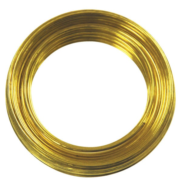 Ook 50150 25' 16 Gauge Brass Hobby Wire 20811158