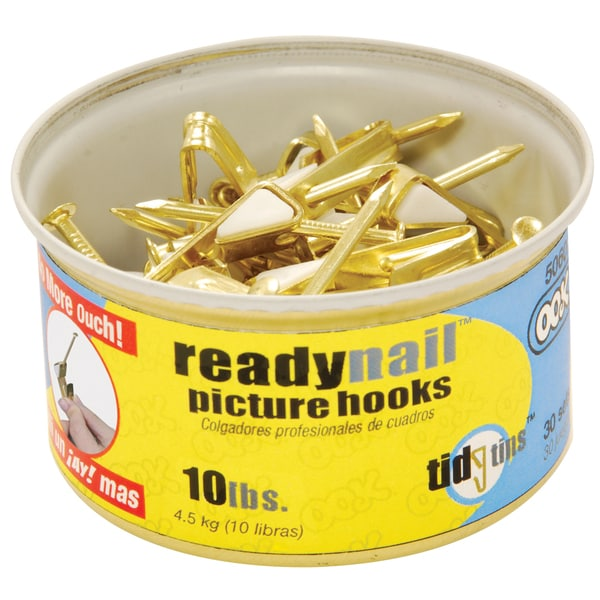Ook 50606 10# ReadyNail Conventional Picture Hooks In Tidy Tin