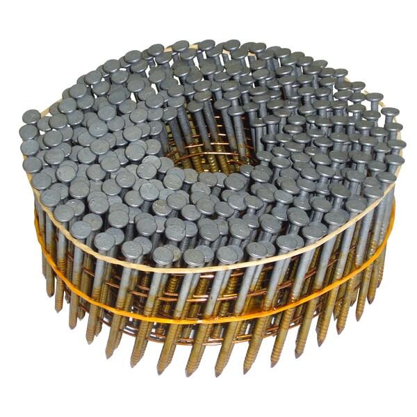 "Hitachi 13367 2-1/4"" X .092"" Round Head Ring Shank Galvanized Siding Nails"