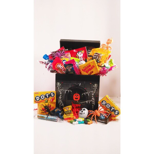 Monster Mash Haunted House Candy Basket