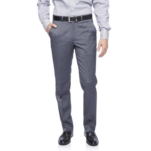 Kenneth Cole New York Technicole Trouser in Medium Grey Shadowgraph
