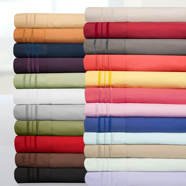 Incredibly Soft 4-piece Full Size Deep Pocket Bed Sheet Set in Aqua (As Is Item)
