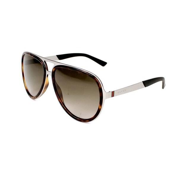 Gucci Mens GG2274/S 06LB Brown Mens Aviator Sunglasses