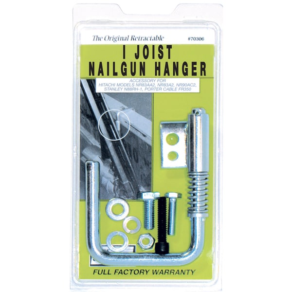 Toolhangers Unlimited 70306 Retractable I Joist Nailgun Hanger