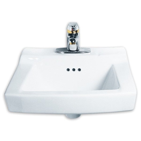 American Standard White Porcelain Comrade Wall-hung Single-basin Bathroom Sink