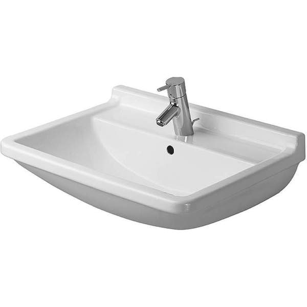 Duravit Starck 3 White 55 cm Washbasin with Overflow