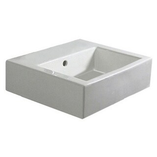 Duravit White Porcelain Above-counter Single-basin Bathroom Sink