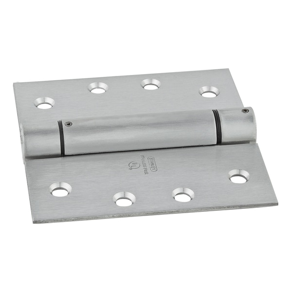 "Stanley S849-687 4"" Stainless Steel Square Spring Hinge"