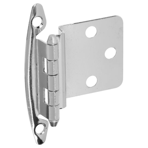 Stanley S826370 Chrome Non-Spring Cabinet Hinge 2-ct