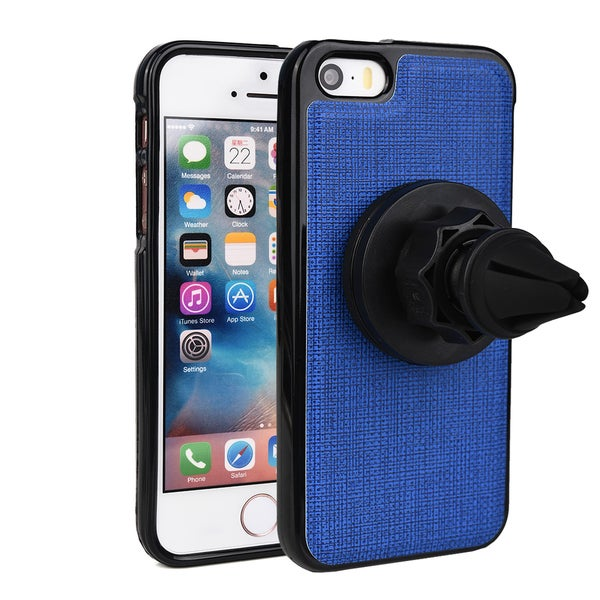 Kroc 360-degree Rotating Magnetic Air Vent Car Mount Holder with Case for Apple iPhone 5/ 5S/ SE