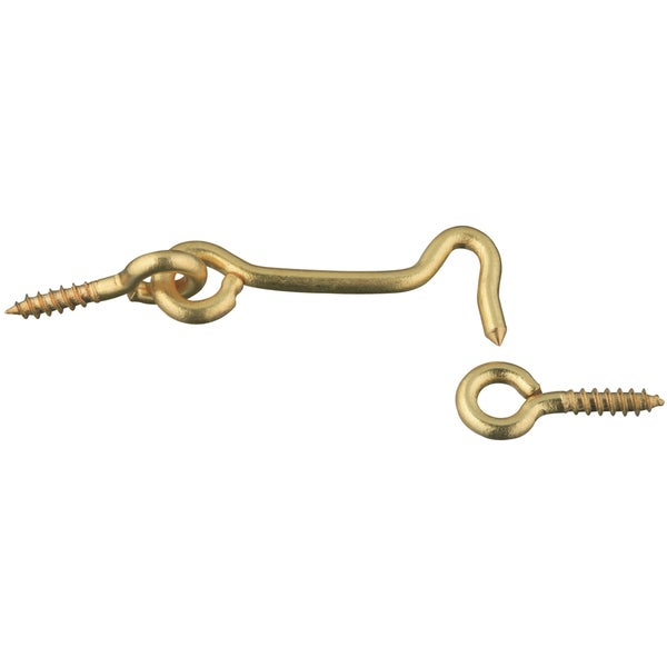 "Stanley S750620 2"" Solid Brass Hook & Eye"
