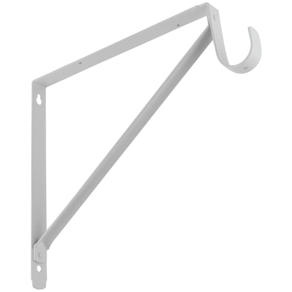 Stanley Hardware 820225 White Shelf & Rod Bracket