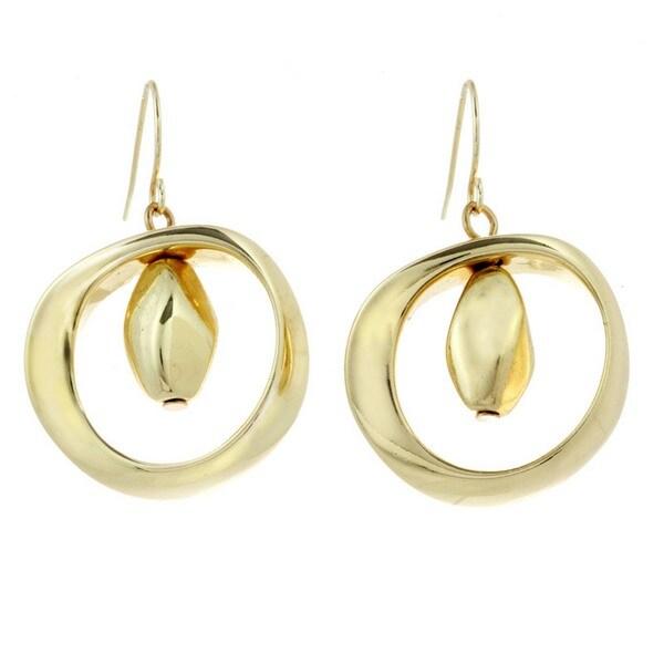 J&H Designs Hoop & Bead Drop Earrings