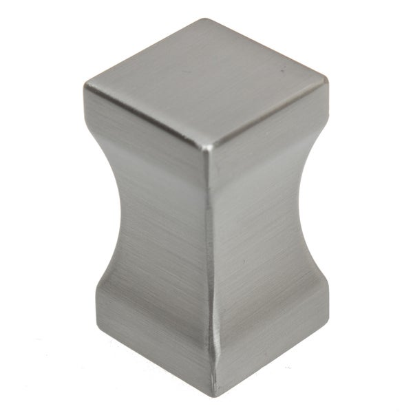 GlideRite 0.75-inch Diameter Concave Block Satin Nickel Cabinet Knob (Pack of 10 or 25)
