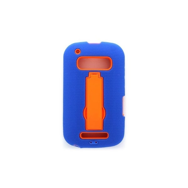 Open Mobile Blue/Orange Hybrid Case for Alcatel Shockwave