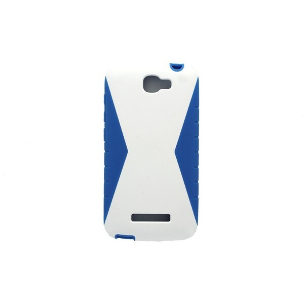 T-Mobile Protective Cover for Alactel OneTouch Fierce 2 White and Blue