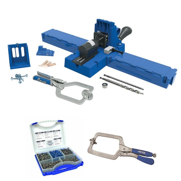 Kreg K5MS-KREG Jig K5 Master System Wood Clamp w/ Pocket-Hole Screw Kit & Large Face Clamp