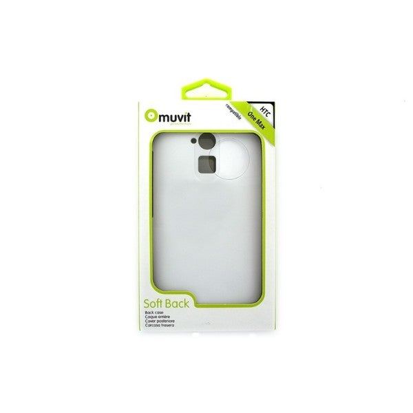 Cricket Muvit White Soft Back Case for HTC One Max