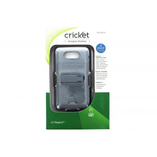 Case Mate Cricket Designer Shellster Grey LG Regard Holster Phone Case
