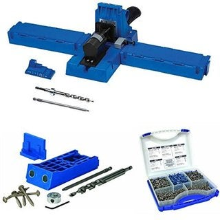 Kreg K5 Pocket-Hole Jig with Kreg KJHD Jig HD and Kreg Pocket-Hole Screw Kit