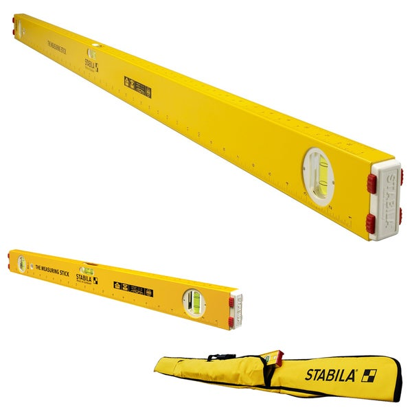 "Stabila 48"" The Measuring Stick Level with 24"" Measuring Stick Level & Case"