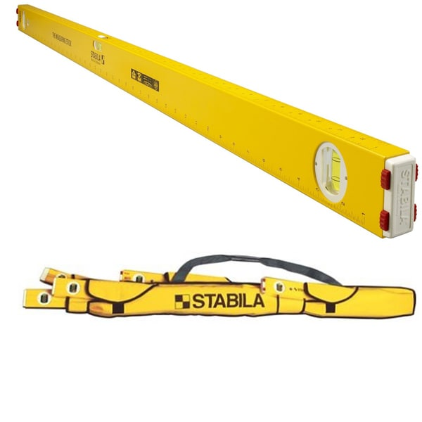 "Stabila 29148 The Measuring Stick 48"" Level with 3 Layout Scales w/ 5-Pocket Case"