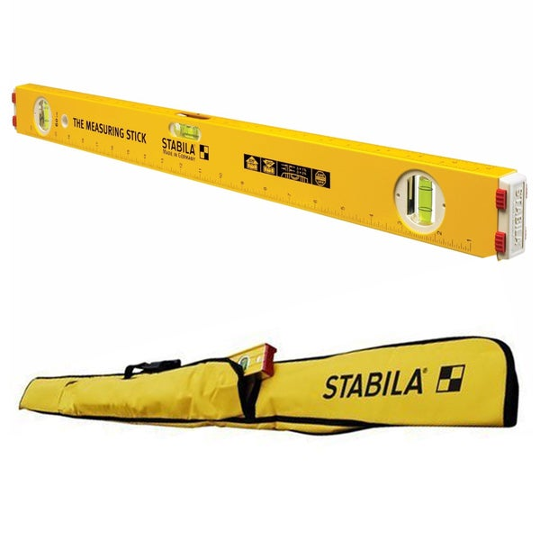 "Stabila 29124 24"" Type 80A-2 Measuring Stick Level w/ 6-Pocket Jamber Construction Level"
